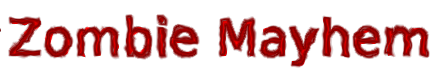 The magical ZOMBIE MAYHEM logo